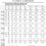 Aluminium Sliding Window Size Chart