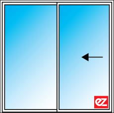 Ez Windows sliding Door 2 Panel Reverse