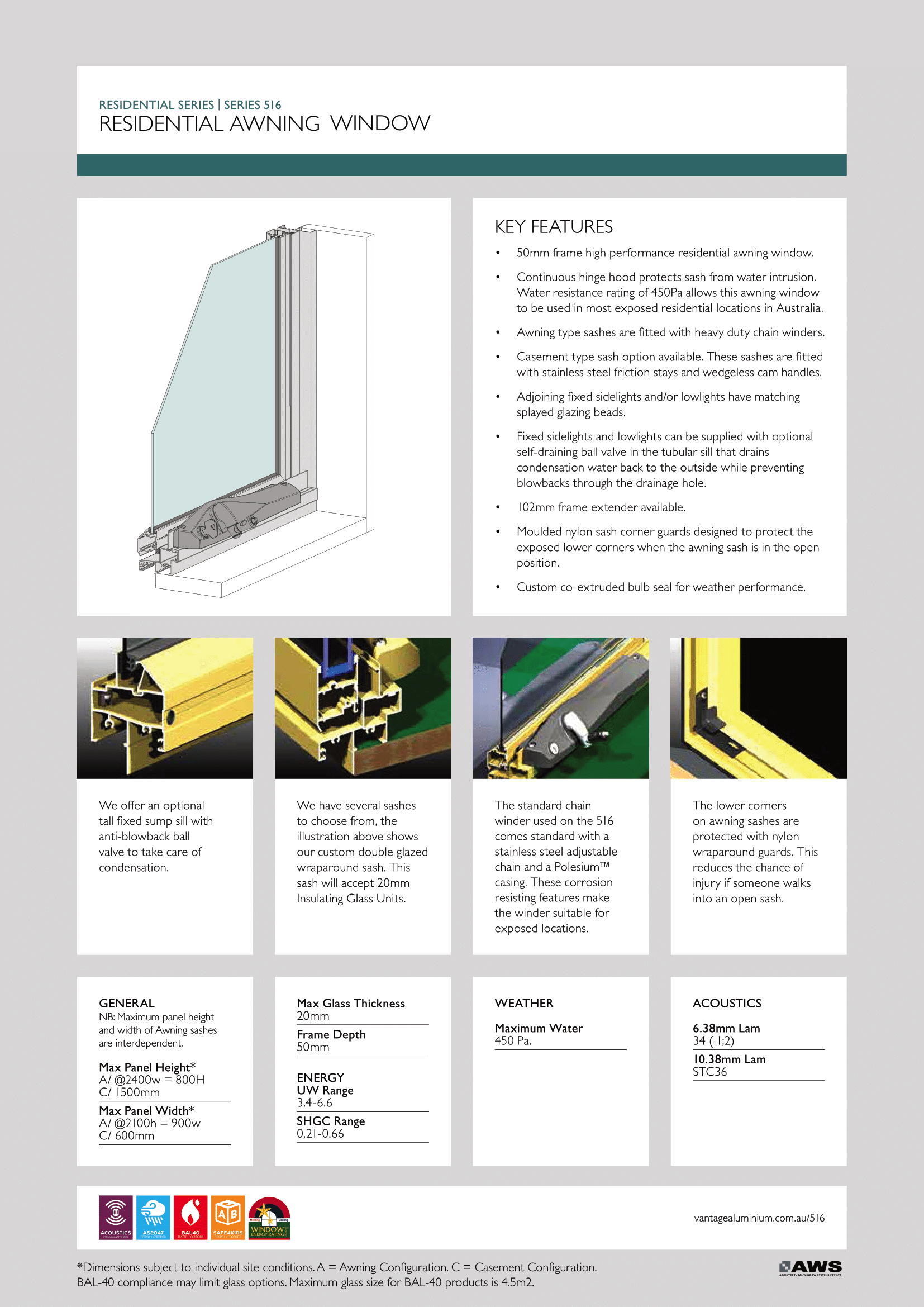 EZ Windows Residential Awning Window